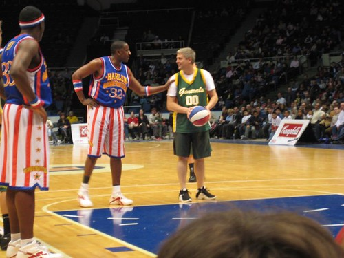 CJ playing the Globetrotters
