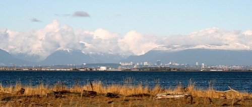 Vancouver from Boundary Bay