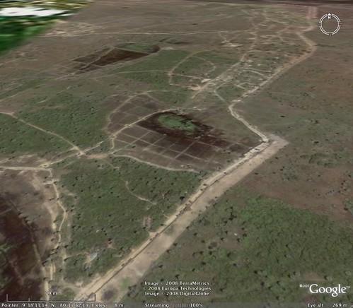 Muhamalai FDL (Forward Defence Lines) on Google Earth