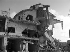 Las casas de la población civil libanesa fuero...