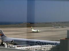 Un MD de Spanair en el aeropuerto de Gran Canaria.