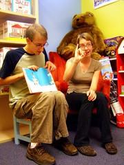 Amy & Drew signing/reading Green Eggs & Ham.