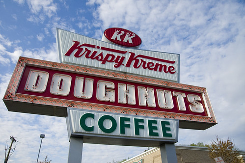 Krispy Kreme Sign by AnneBPhoto.