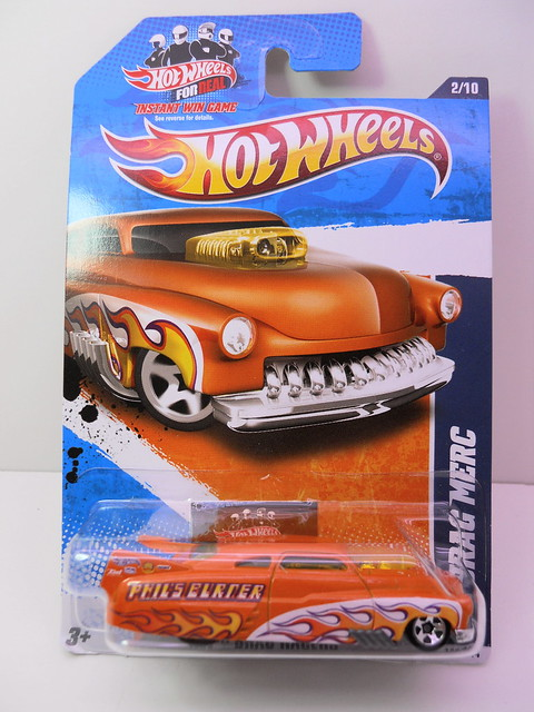 hot wheels orange drag merc