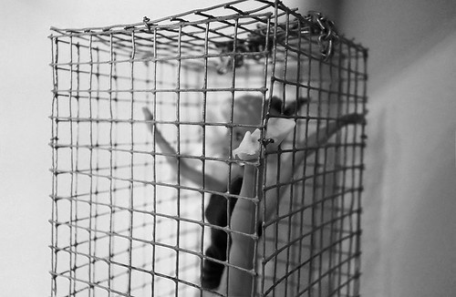 she didn't tell me she danced in a cage