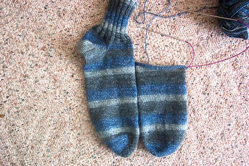 toe up sock 11-23-2007