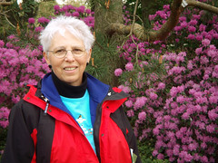 Mom at the Rhododendron Tree