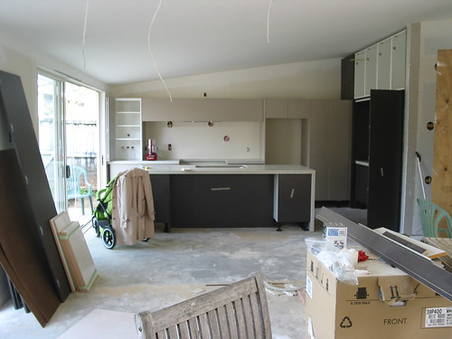 Partly Installed kitchen