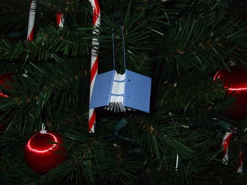 Tiny Blue Book Ornament