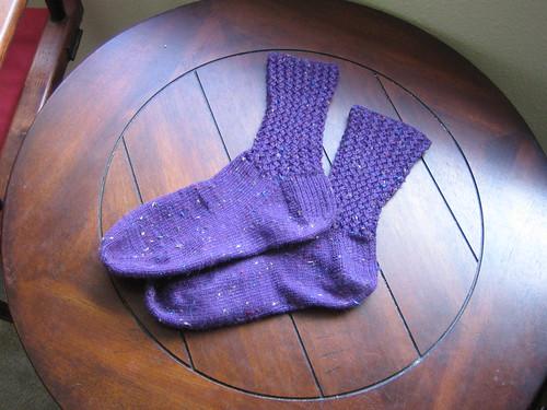 Corded Rib Socks