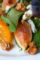 Sweet Cress and Fruit Salad with Grapefruit-Verjus Vinaigrette close