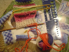 Frogged back to the heel flap