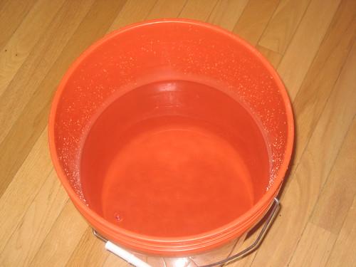 Empty bucket of water
