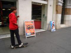 skater kid in seville