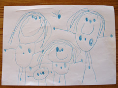 Our family as portraited by Ronja