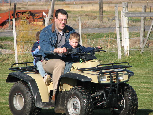 Jacob's turn to drive (with Dad's help, or course)