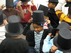 Students participate in the Lincoln's Hat program
