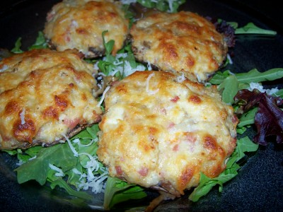 cheesy crab stuffed mushroom