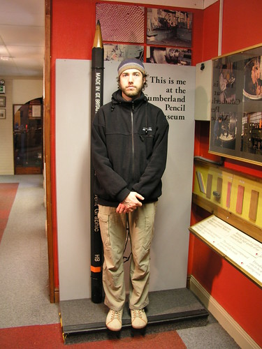 This is Paul at the Cumberland Pencil Museum (where they make Derwent pencils)