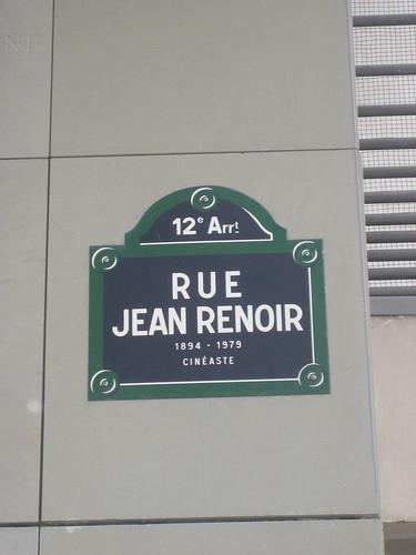 A street named after Jean Renoir. I love Paris.