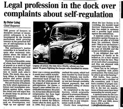 Scotland on Sunday February 2001 - Legal Profession in the dock over complaints about self regulation