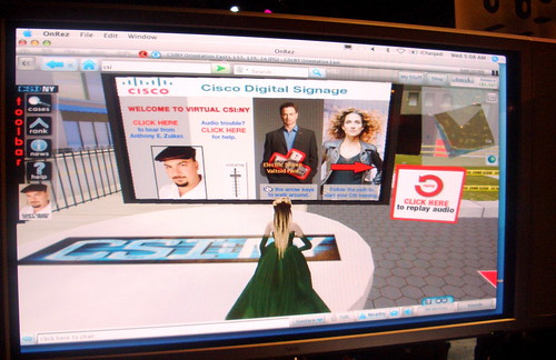 CSI in Second Life launch page