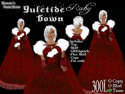 Yuletide Gown - Ruby