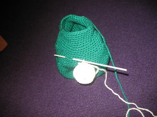 crocheted toy body, unstuffed