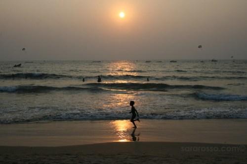 Sunset on Baga Beach, Goa, India