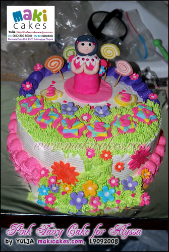 Pink Fairy Cake for Alyssa - Maki Cakes