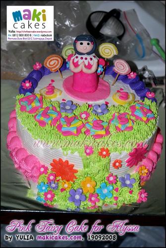 Pink Fairy Cake for Alyssa - Maki Cakes
