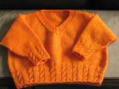 Orange Racer Sweater