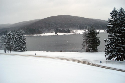 Red House Lake [snowing]