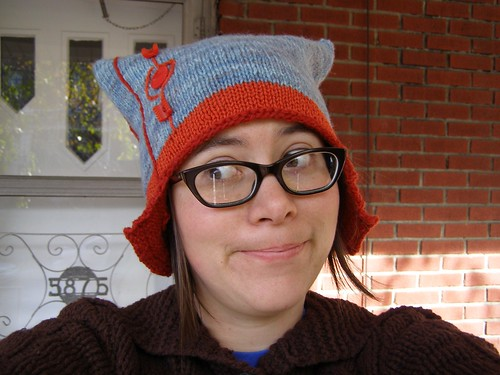 geometric earflap hat -silly