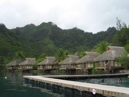 Before: Luxury bungalows on Moorea, French Polynesia