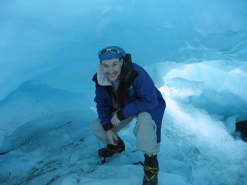 Ice cave on Franz Joseph Glacier