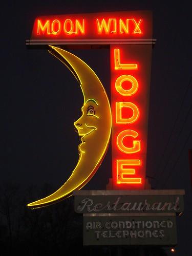 Moon Winx Motel Sign, Alberta City AL
