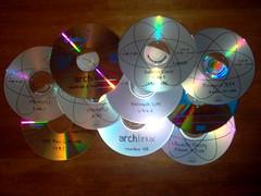 colección de cds con distros de linux