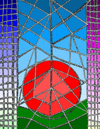 Stained Glass design for Easter