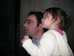 Ryan and Dad at the aquarium