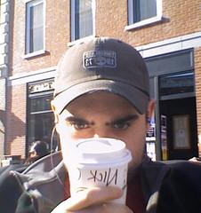 Nick Plante thinking coffee