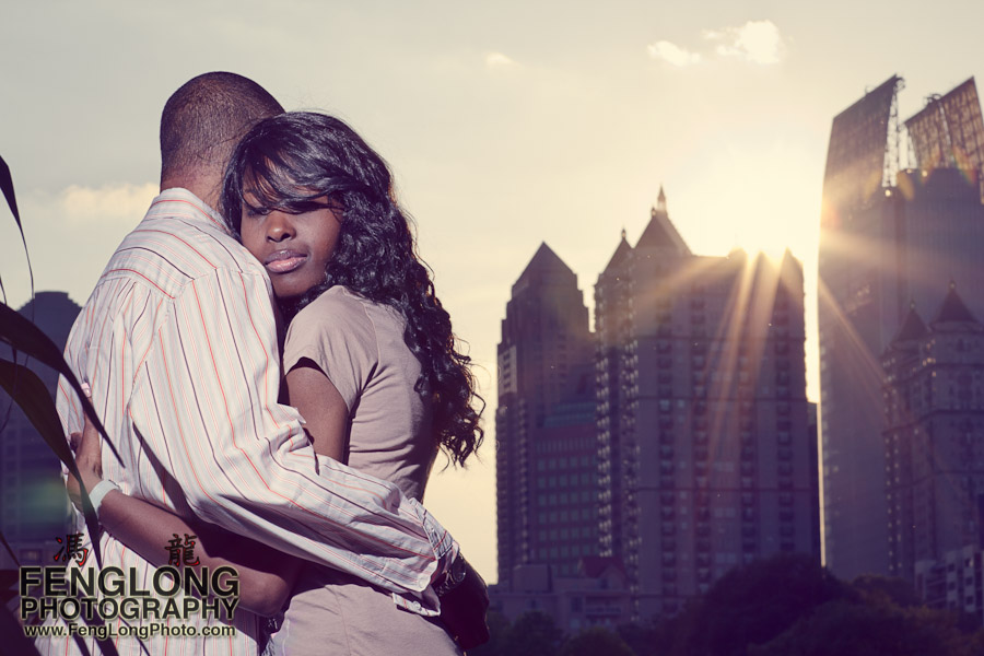 Trina + Shawn Engagement Session | Piedmont Park | Atlanta Wedding Photographer