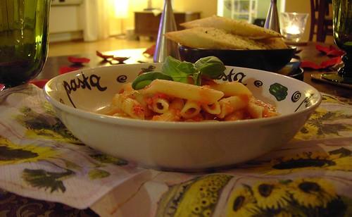 pasta dukning