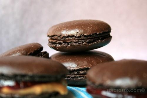 Chocolate Macaron shells