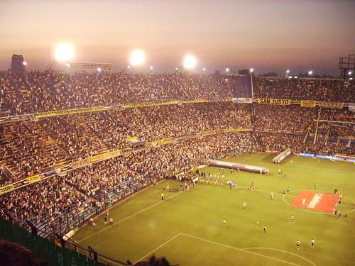 Stadion Boca vanaf bezoekers tribune