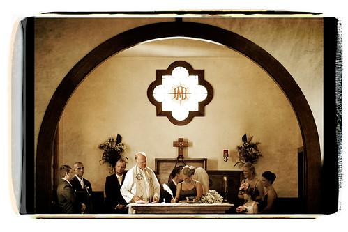 wedding signing polaroid transfer