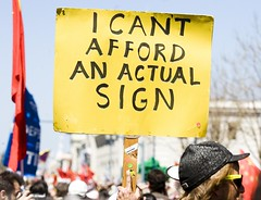 I Can't Afford an Actual Sign