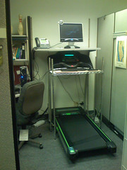 Treadmill workstation view 2