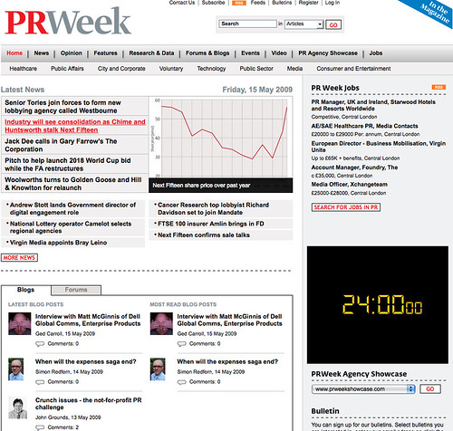 PR Week relaunch