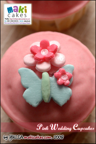 Pink Wedding Cupcake - Dome